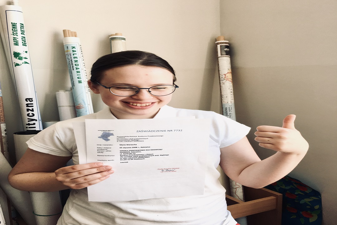 Uczennica Płomienia podwójną laureatką Wojewódzkiego Konkursu Przedmiotowego!!!